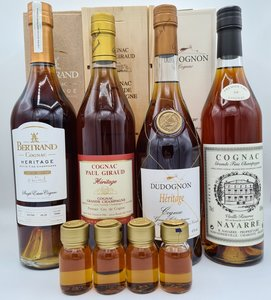 "cognac-deal ""Héritage"" (4x70cl inclusief 4x 3cl sample)"